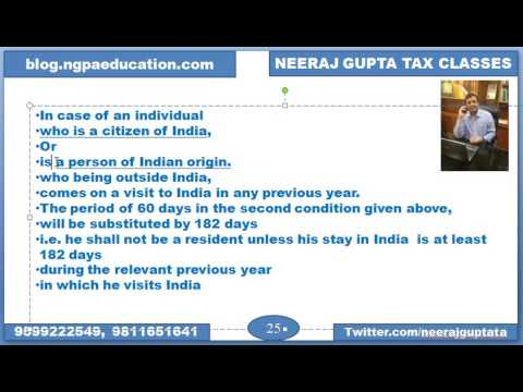 Special provisions for Indian Citizens & Persons of Indian Origin (Residential Status)