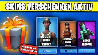 SHORT TIME 🎁 Gift Feature ACTIVE - RARE Skins Give Away? | Fortnite German German