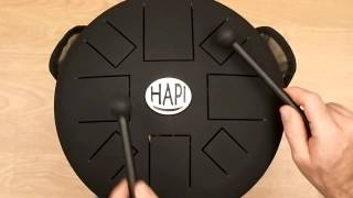 HAPI Drum Slim Tuneable Steel Tongue Drum, Over 24 adjustable scales in G, F# and F