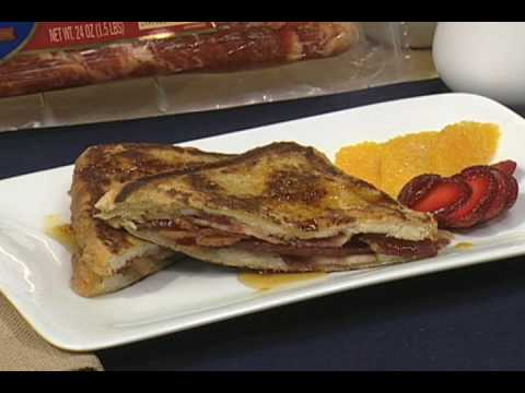 Wright Brand Bacon Byte with Aaron McCargo Jr: Applewood Bacon-Stuffed French Toast