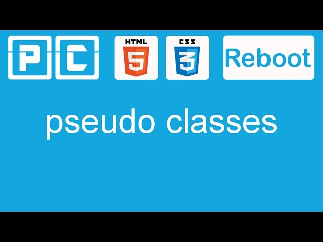 HTML5 and CSS3 beginners tutorial 24 - pseudo classes