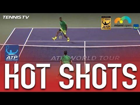Hot Shot: Kyrgios Delivers Between The Legs Winner Against Federer In Miami Semi-Final