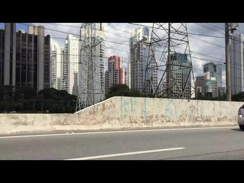 Riding through Sao Paulo