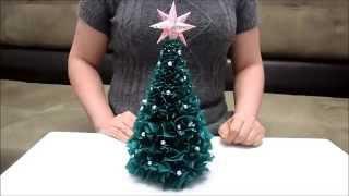 видео Новогодняя ёлка из гофрированной бумаги