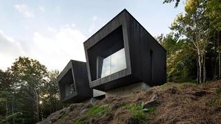 Minimal Cabin on Cliff's Edge Combines Thrill with Cozy Design