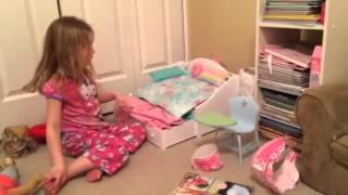 Ava B Shows how to Use AG trundle bed