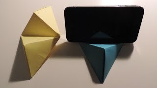 Origami Cell Phone / Business Card Stand Instructions. (Full HD)