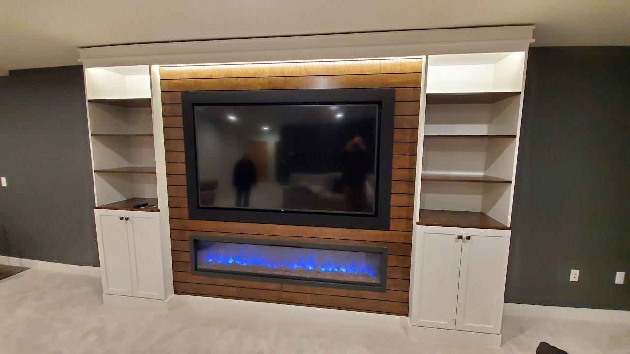 Custom Built In Entertainment Center 75