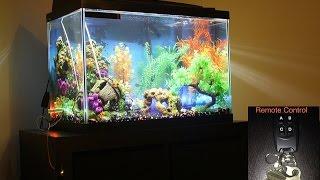 aquarium remote controlled colorful led lights
