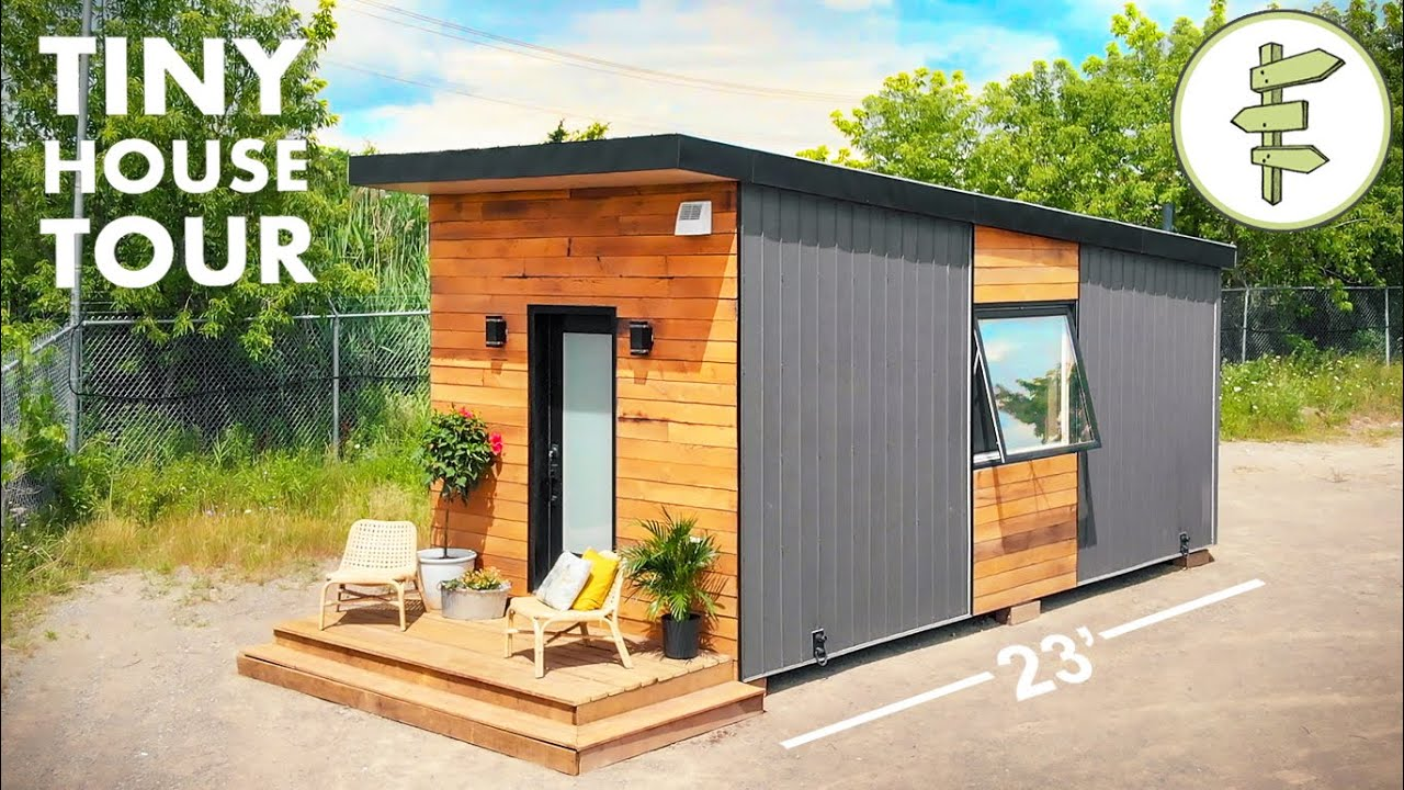 Stunning Tiny House With Smart Detachable Trailer Design Full Tour Youtube