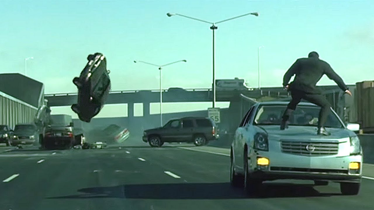 The Matrix Reloaded Car Chase Behind Scenes Tbt Fifth Gear You