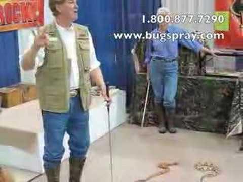 Snake Handler With Snake Hooks And Copperhead Snakes