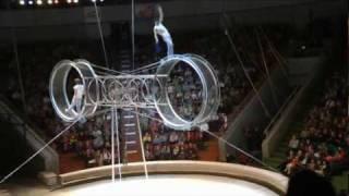 видео Колесо смерти. Номер цирка дю Солей.
