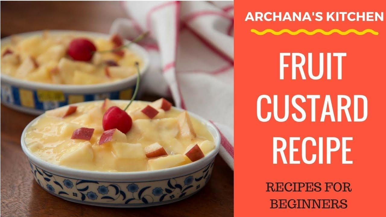 Creamy and Delicious Fruit Custard Recipe
