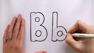 B Harfi B Karikatür Çizmek için nasıl