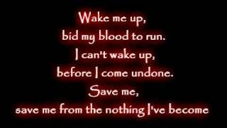 evanescence wake me up inside lyrics mp4