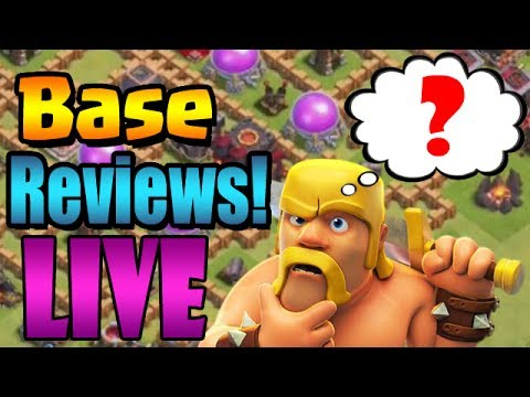LIVE BASE REVIEWS!!  Bonus Stream for #KlausFamily | Clash of Clans