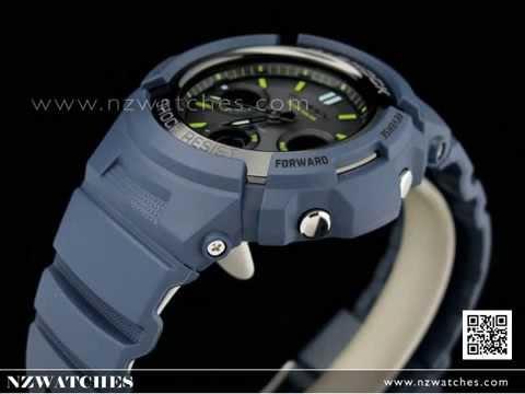 CASIO G-SHOCK Men in Navy Blue solar resin strap AWR-M100NV-2A ... 57af52319