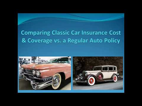 Comparing Classic Car Insurance Cost & Coverage Vs. Regular Auto Insurance