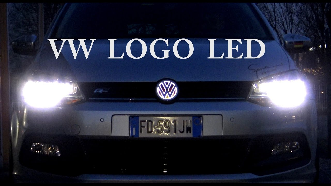 VOLKSWAGEN POLO LOGO LED LIGHT - YouTube
