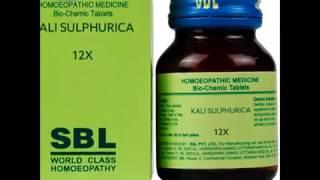 Homeopathy Biochemics Salts Kali Sulphuricum