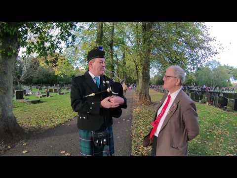 The Scottish Piper, War Cemetery, Newark on Trent