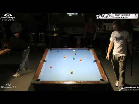 Twenty Nine 9-Ball Open 2012, 08 Rumland-Hybler, Quarter-Final, Pool-Billard