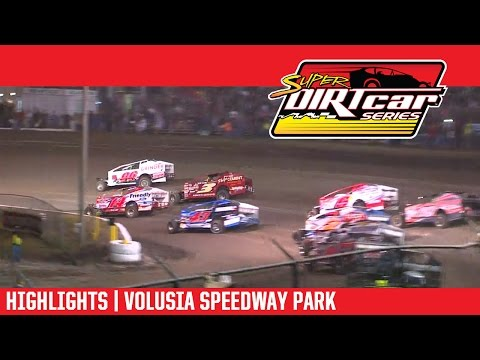 Super DIRTcar Series Big Block Modified Feature Event Highlights from the Volusia Speedway Park in Barberville, Florida on February 24th, 2017 as part of the ... - dirt track racing video image