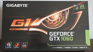 Gigabyte GTX 1060 G1 Gaming review, unboxing and install