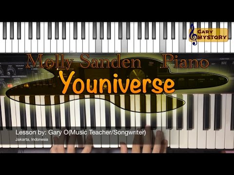 Molly Sandén – Youniverse Easy Piano Tutorial Cover Backtrack Singing (Keyboard Free Sheet Music)