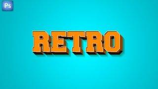 Photoshop 3D Retro Text Effect Tutorial