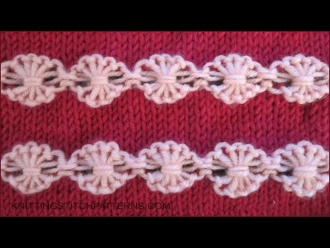 Flowers In A Row Ornamental Stitch YouTube Stunning Free Knitted Flower Patterns
