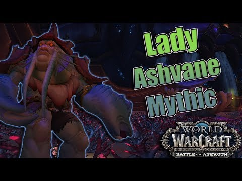 BFA - 8.2 The Eternal Palace Mythic Lady Ashvane Kill! Affliction Warlock POV!