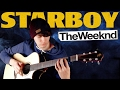 Starboy - The Weeknd ft. Daft Punk [Fingerstyle Guitar Cover by Eddie van der Meer]