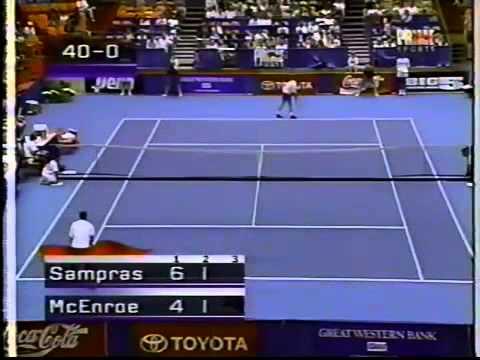 Pete Sampras vs McEnroe - 1995