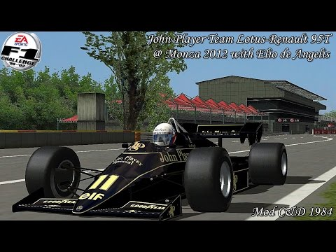[F1C] John Player Team Lotus-Renault 95T @ Monza 2012 with Elio de Angelis (Mod C&D 1984) [HD]