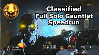 Classified Full Solo Gauntlet Speedrun Gold PS4 no strikes