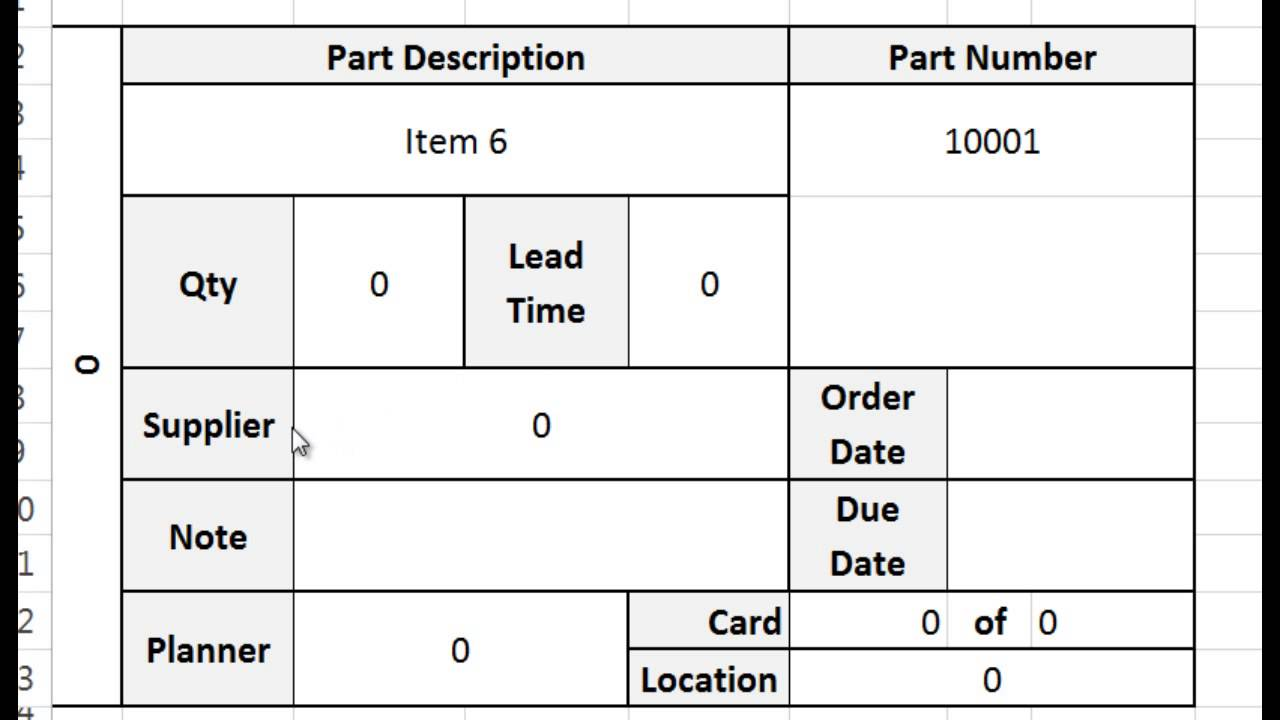 excel format for inventory