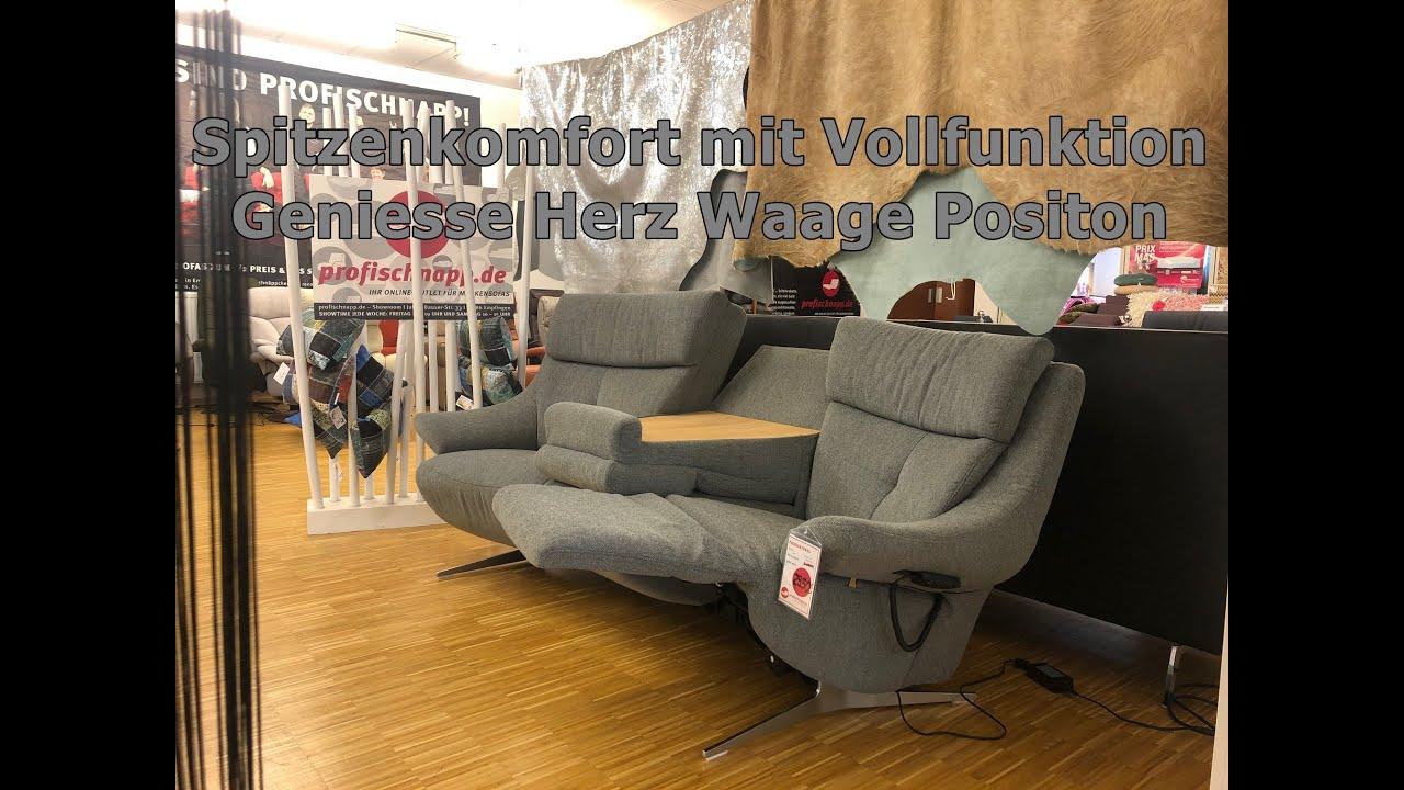 Himolla 4633 Easy Comfort Winkelkombination Vollfunktionssitzenherz Waage Stoff Q2 Profischnapp Youtube