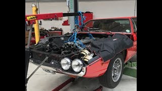 Lamborghini Espada V12 engine rebuild. Part 1, removing the engine