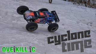 CYCLONE TIME w/ the Traxxas E-Revo 2.0 ON ICE | Spin Cycle Shakedown Run | Overkill RC