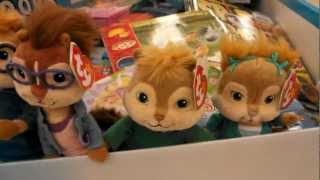 chipmunks and chipettes beanie ty babies in love plus more