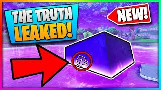 The TRUTH About The Fortnite Loot Lake Cube Event...