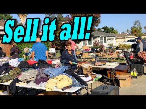 SELLING STORAGE LOCKER ITEMS at the garage sale and flea market, everything from the storage auction