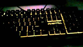 게이밍 키보드 LED 조명 MAXTILL TRON G350 GAMING KEYBOARD
