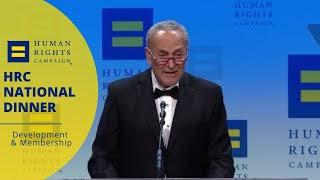 Sen. Chuck Schumer Addresses #HRCNationalDinner
