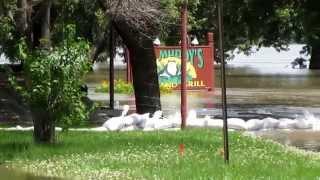 Flooding in Burlington Iowa - view of Big Muddies
