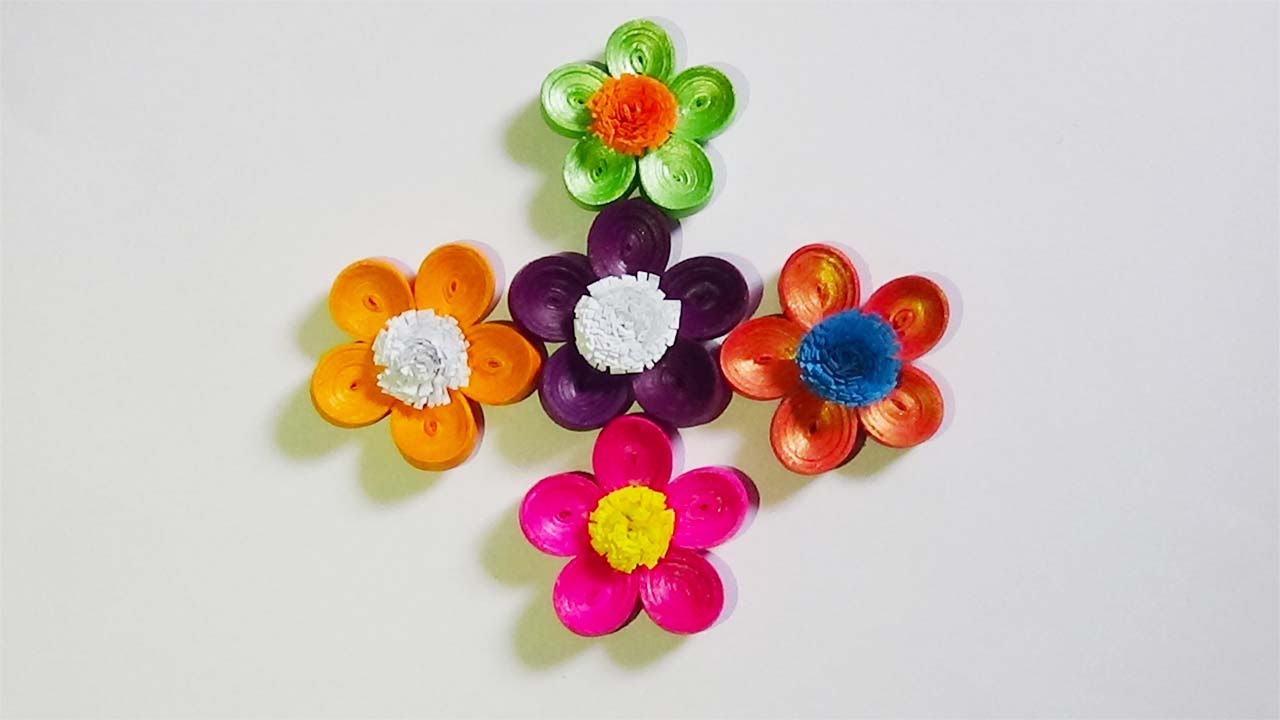 paper quilling: how to make beautiful 3d flowers - youtube