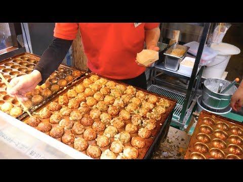 Mouthwatering JAPANESE STREET FOOD- Kuromon Market, Osaka, JAPAN