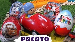 Pocoyo Huevos Sorpresa Thomas Y Sus Amigos Play Doh Cars Surprise Eggs Thomas and Friends Cars